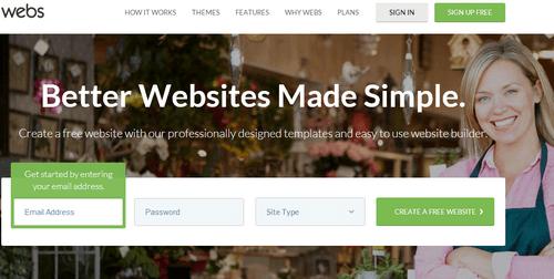 Webs - Homepage