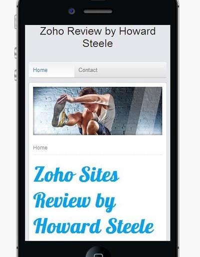 Zoho Sites Mobile Editor
