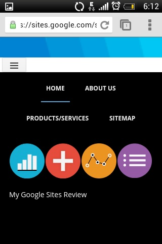 Google Sites - Updated Mobile View