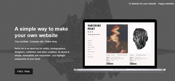 Berta homepage