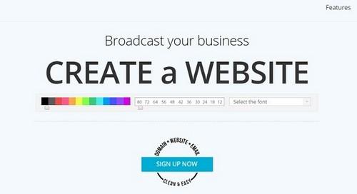 Zoho Sites Homepage