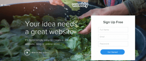 Weebly - New Homepage