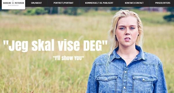 Wix Website Example - Karoline Pettersen