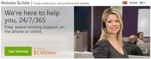 GoDaddy Website Builder - Homepage