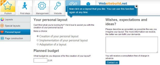Websitebuild.net - Personal Layout