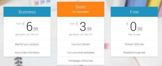 Websitebuild.net - Pricing