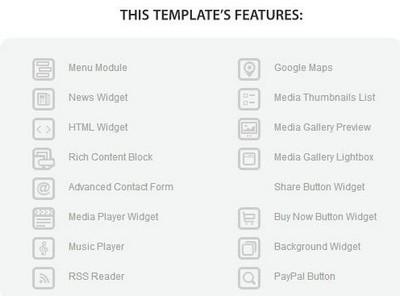 MotoCMS Template Description - Features