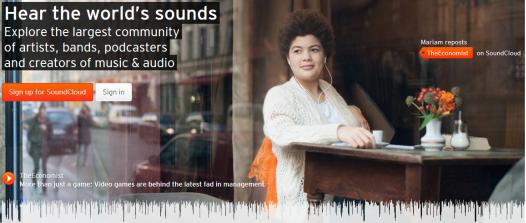 SoundCloud Homepage
