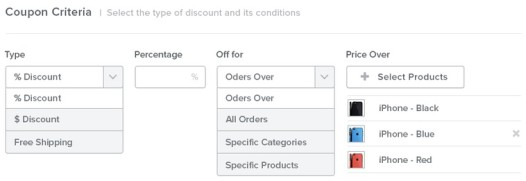 Weebly Coupon Builder
