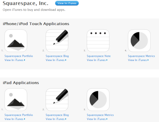 Squarespace Applications