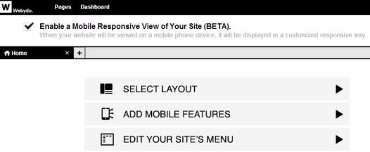 Webydo - Enable a Mobile Responsive View