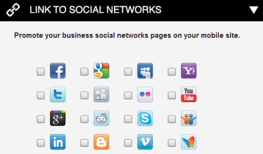 Webydo - Link to Social Networks