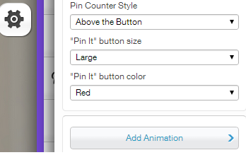 Wix - Pin It Button Settings