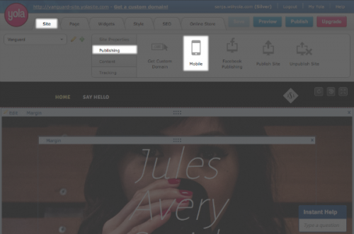 Yola mobile publishing