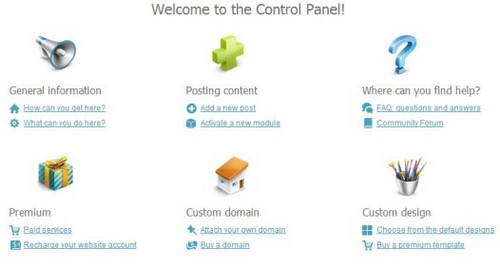 uCoz Control Panel