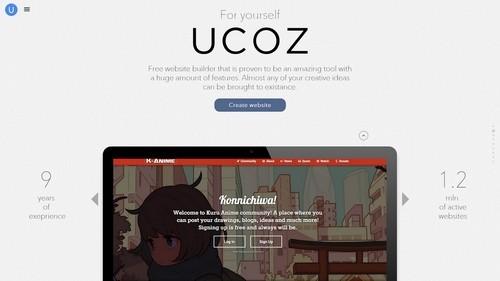 uCoz website builder