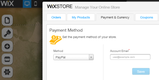 Wix - Payment Options