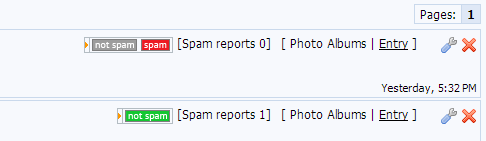 uCoz - Spam Reports
