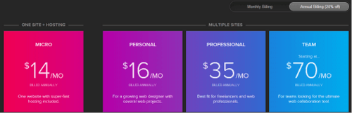 Webflow Pricing