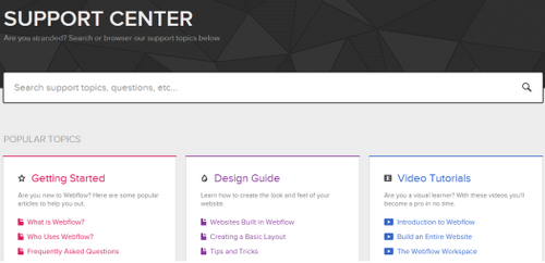 Webflow Support Center