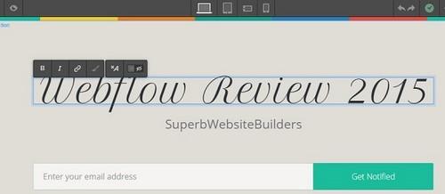 Webflow builder