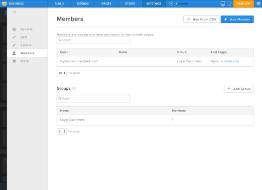 Weebly Membership Beta