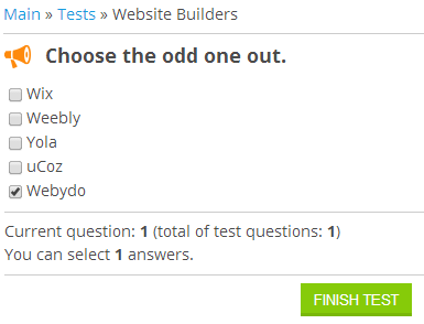 uCoz - Taking Online Tests