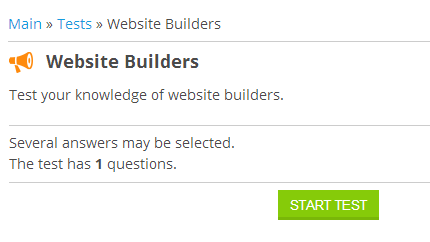 uCoz - Website Builders Test