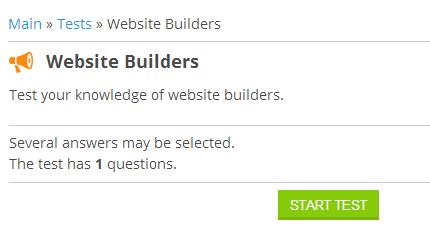 uCoz - Website Builders Test