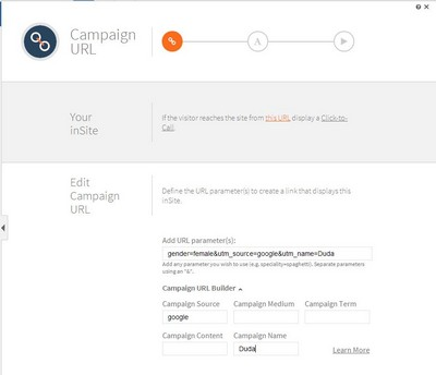 Campaign URLs (Image Credit - Duda Blog)