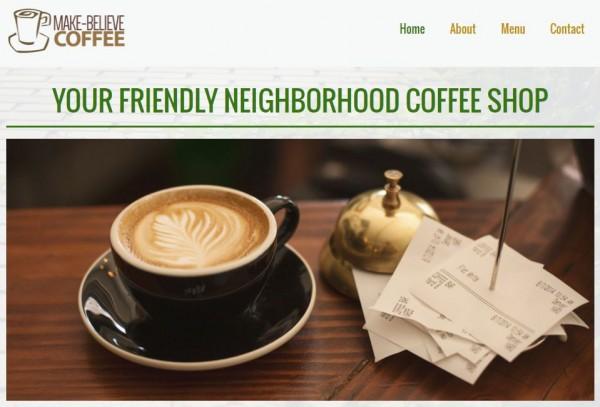 Make-BelieveCoffee - Jimdo website