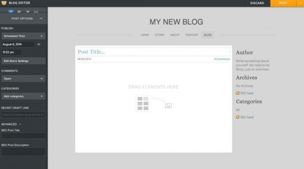 Weebly Blogging Beta