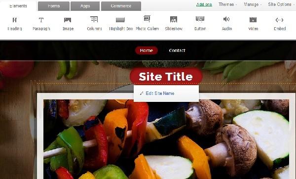 Zoho Sites Builder