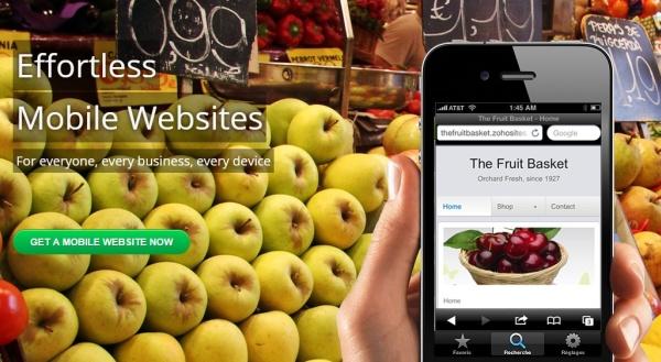 Zoho Sites - Mobile Websites