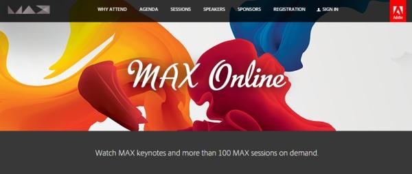 Adobe Max Online