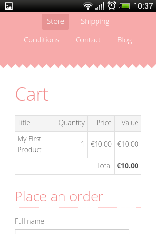 Mobile Mozello Screenshort - eCommerce