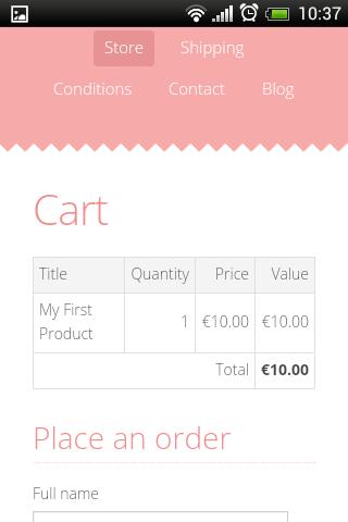 Mobile Mozello Screenshort - eCommerce