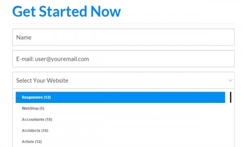 WebStartsToday - Select your website