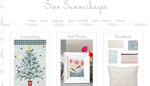 Sian Summerhayes - Wix Website Examples