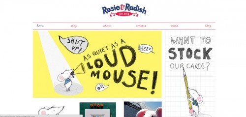 Moonfruit example website - Rosie and Radish