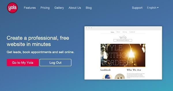 Yola homepage