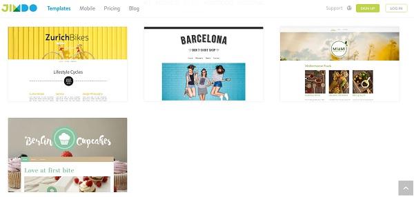 Jimdo eCommerce Website Builder