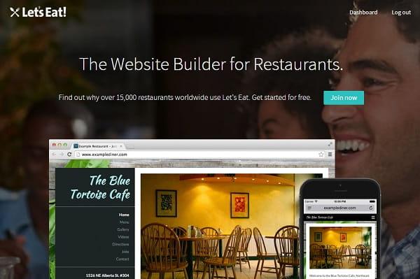 Letseat website builder