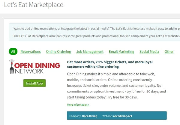 Letseat marketplace