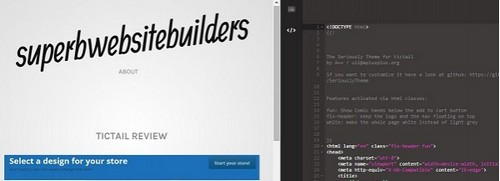 Tictail HTML editor