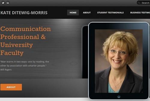 Weebly portfolio example - Kate Ditewig-Morris