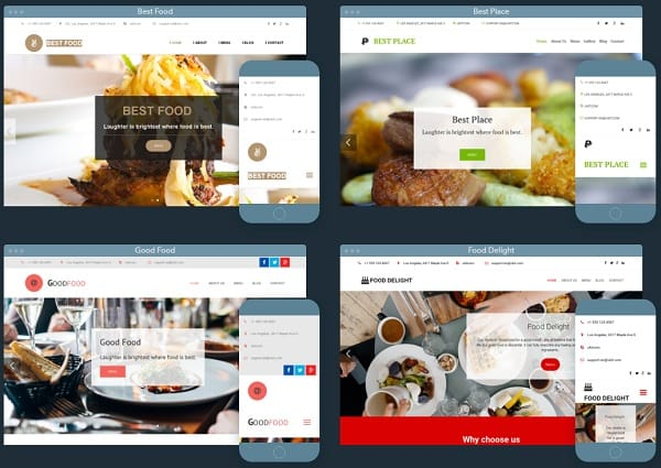 uKit Restaurant Templates