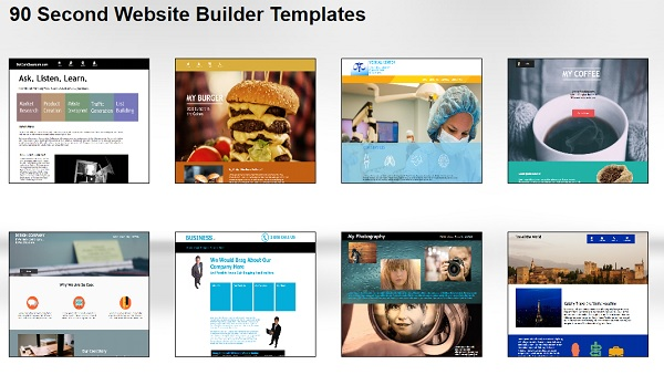 90 Second Website Builder Templates