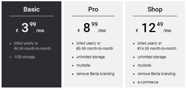 Berta pricing