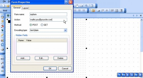 BlueVoda - Creating a form
